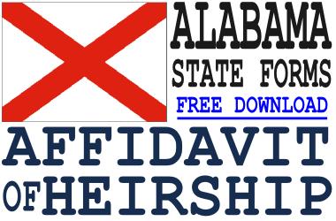 Alabama Affidavit of Heirship Form