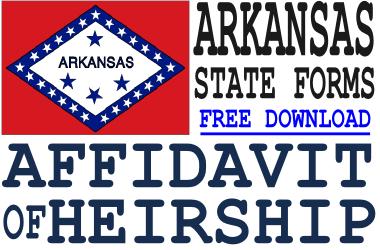 Arkansas Affidavit of Heirship Form
