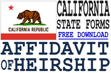 California Affidavit of Heirship Form