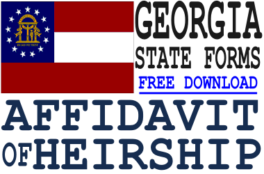 Georgia Affidavit of Heirship Form