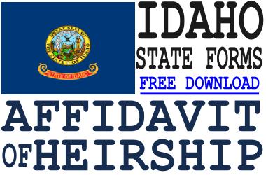 Idaho Affidavit of Heirship Form