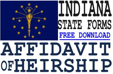 Indiana Affidavit of Heirship Form