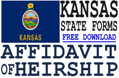 Kansas Affidavit of Heirship Form