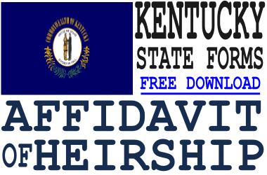 Kentucky Affidavit of Heirship Form