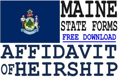Maine Affidavit of Heirship Form