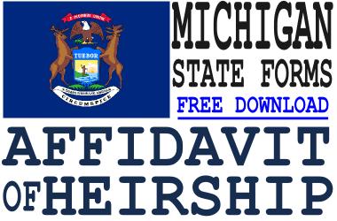 Michigan Affidavit of Heirship Form