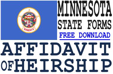 Minnesota Affidavit of Heirship Form