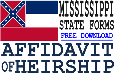 Mississippi Affidavit of Heirship Form