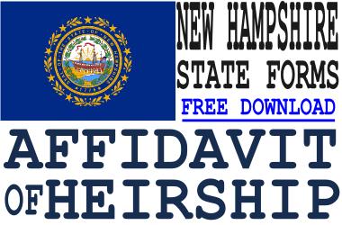 New Hampshire Affidavit of Heirship Form