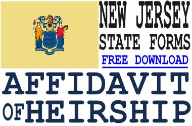 New Jersey Affidavit of Heirship Form