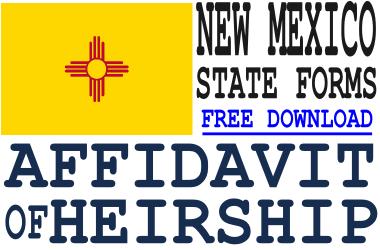 New Mexico Affidavit of Heirship Form