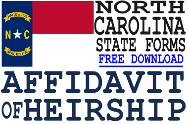 North Carolina Affidavit of Heirship Form