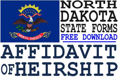 North Dakota Affidavit of Heirship Form