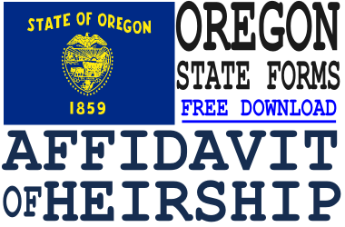 Oregon Affidavit of Heirship Form