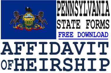 Pennsylvania Affidavit of Heirship Form