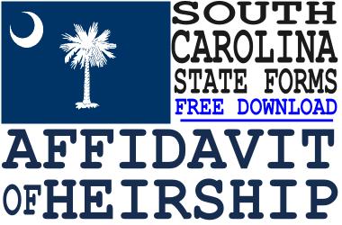 South Carolina Affidavit of Heirship Form