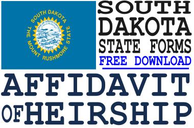 South Dakota Affidavit of Heirship Form