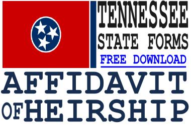 Tennessee Affidavit of Heirship Form