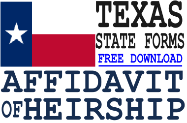 Texas Affidavit of Heirship Form