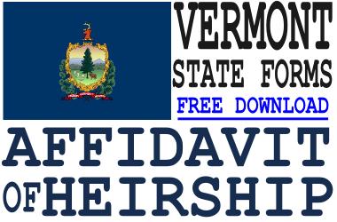 Vermont Affidavit of Heirship Form
