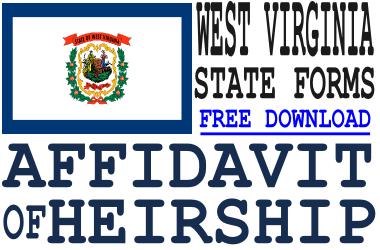 West Virginia Affidavit of Heirship Form