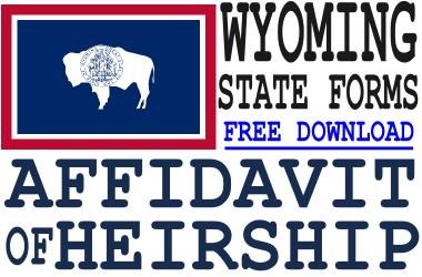 Wyoming Affidavit of Heirship Form