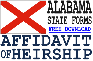 Alabama Affidavit of Heirship Form