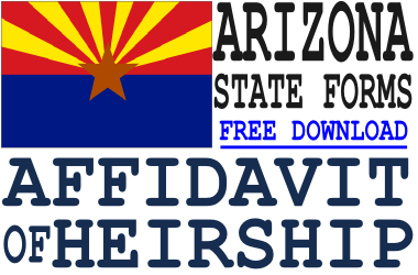 Arizona Affidavit of Heirship Form