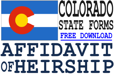 Colorado Affidavit of Heirship Form