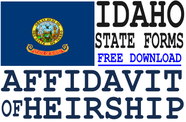 Idaho Affidavit of Heirship Form