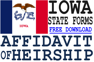 Iowa Affidavit of Heirship Form