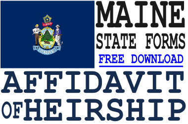 Maine Affidavit of Heirship Form