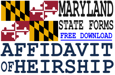 Maryland Affidavit of Heirship Form