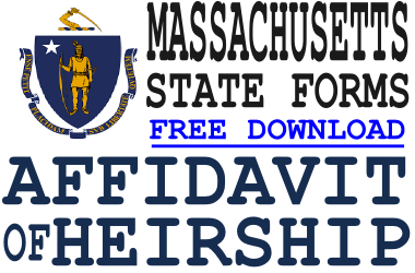 Massachusetts Affidavit of Heirship Form