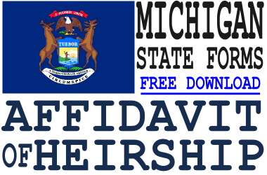 Michigan Affidavit of Heirship Form