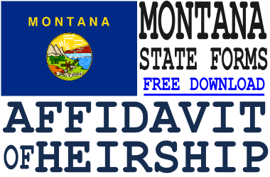 Montana Affidavit of Heirship Form