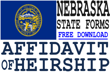 Nebraska Affidavit of Heirship Form