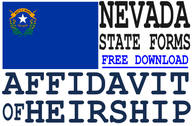 Nevada Affidavit of Heirship Form