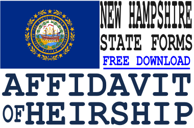 New Hampshire Affidavit of Heirship Form