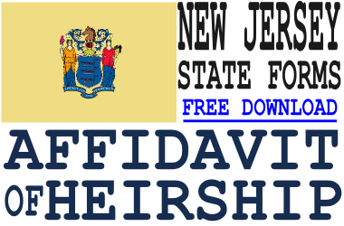 New Jersey Affidavit of Heirship Form