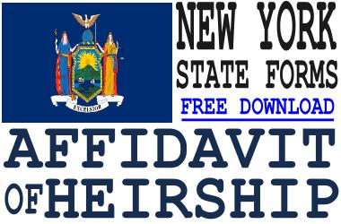 New York Affidavit of Heirship Form
