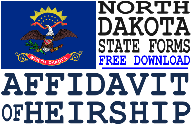 North Dakota Affidavit of Heirship Form