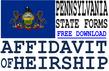 Pennsylvania Affidavit of Heirship Form