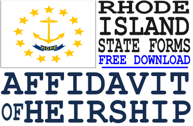 Rhode Island Affidavit of Heirship Form