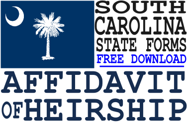 South Carolina Affidavit of Heirship Form