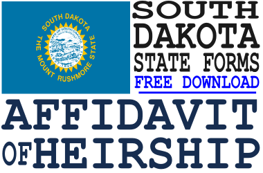 South Dakota Affidavit of Heirship Form