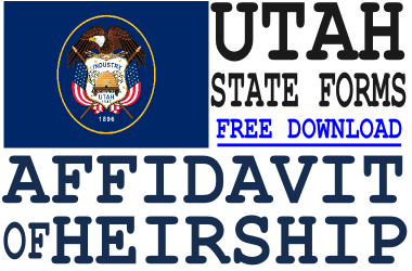 Utah Affidavit of Heirship Form