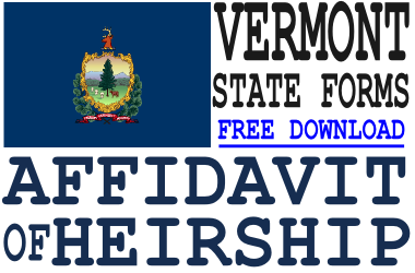 Vermont Affidavit of Heirship Form