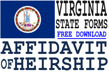 Virginia Affidavit of Heirship Form