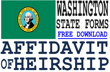 Washington Affidavit of Heirship Form